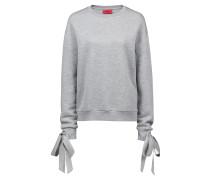 Sweatshirt aus Jersey mit Bändern an den Bündchen