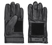 Biker-Handschuhe aus Leder und Veloursleder