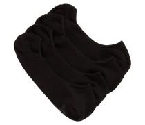 Füßlinge aus elastischem Baumwoll-Mix im Zweier-Pack