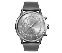 Armbanduhr aus Edelstahl im Bauhaus-Stil