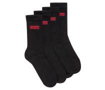 Zweier-Pack Socken aus geripptem Baumwoll-Mix