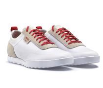 Lowtop Sneakers aus Mesh und Veloursleder