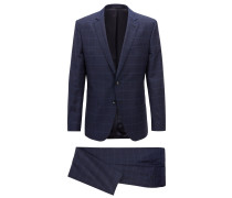 Karierter Slim-Fit Anzug aus Schurwolle