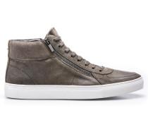 Hightop Sneakers aus gewachstem Veloursleder