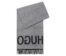 Schal aus Schurwoll-Mix mit Reversed-Logo