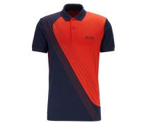 Martin Kaymer Poloshirt aus Piqué in Colour-Block-Optik