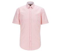 Slim-Fit Hemd aus gestreifter Baumwolle
