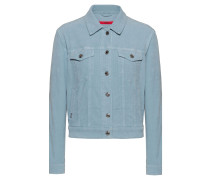 ALEX Slim-Fit Jacke aus elastischem Denim-Cord in Cropped-Länge