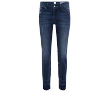 Regular-Fit Jeans aus Super-Stretch-Denim in Cropped-Länge
