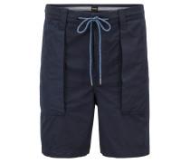 Überfärbte Relaxed-Fit Shorts aus italienischer Baumwolle