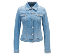 Jeansjacke aus Stretch- Denim mit Used-Effekten