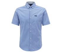 Regular-Fit Kurzarm-Hemd aus feuchtigkeitsableitender Stretch-Baumwolle
