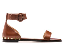 Leder-Sandalen mit Metall-Nieten