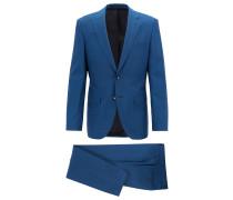 Regular-Fit Anzug aus natürlich elastischer Schurwolle