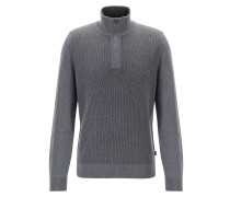 Pullover aus Schurwolle mit Troyerkragen
