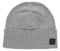 Feinstrick-Mütze mit geripptem Saumaufschlag