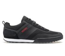 Sneakers aus Mesh und Veloursleder