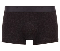 Stretch jersey trunks with all-over floral print