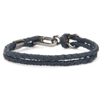 Geflochtenes Doppel-Armband aus Leder