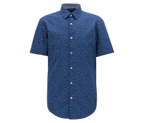 Slim-Fit Kurzarm-Hemd mit exklusivem Vogel-Print