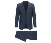 Slim-Fit Anzug aus Schurwolle mit Weste