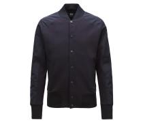 College-Jacke aus Baumwoll-Mix mit Druckknöpfen