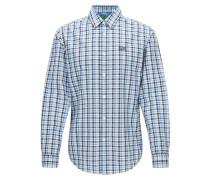 Kariertes Regular-Fit Hemd aus Baumwolle