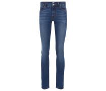 Slim-Fit Jeans aus Super-Stretch-Denim im Used-Look
