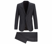 Gemusterter Slim-Fit Anzug aus nachverfolgbarer Merinowolle