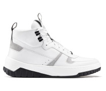 Hightop Sneakers aus Nappa- und Veloursleder