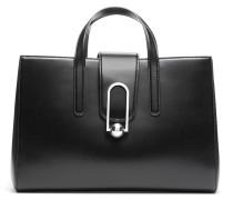 Tote Bag aus beschichtetem Leder mit Logo-Prägung