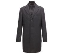 Slim-Fit Mantel aus Woll-Mix