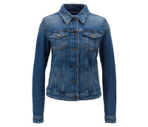 Regular-Fit Jacke aus Stretch-Denim