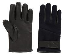 Verstellbare Handschuhe aus Leder und Strick