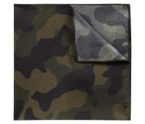 Einstecktuch aus reiner Seide mit Camouflage-Print