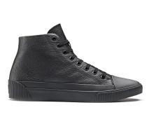 Hightop Sneakers aus genarbtem Leder