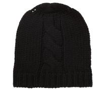 Mütze aus Woll-Mix mit Zopfmuster