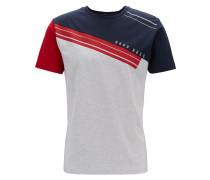 T-Shirt aus Stretch-Baumwolle in Colour-Block-Optik