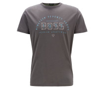 T-Shirt mit Logo-Motiv im Digitaluhr-Design