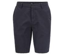 Regular-Fit Shorts aus fein gerippter Stretch-Baumwolle