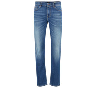 Slim-Fit Jeans aus Stretch-Denim im Used-Look