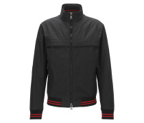 Regular-Fit Bomberjacke aus Material-Mix