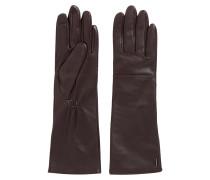 Lange Leder-Handschuhe