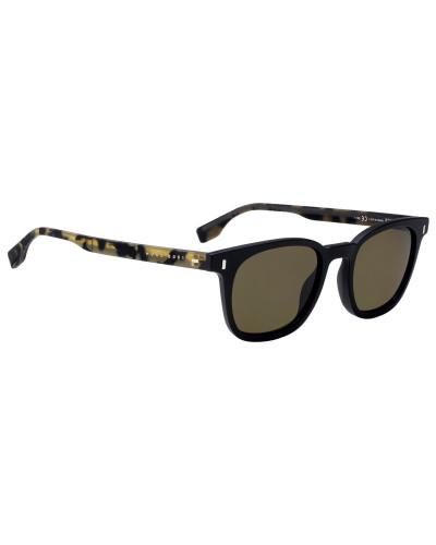 Sonnenbrille mit Gummibügeln mit Havanna-Muster
