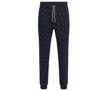 Bedruckte Pyjama-Hose aus Baumwolle