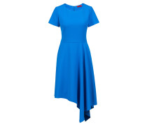 Kurzarm-Kleid aus Stretch-Krepp