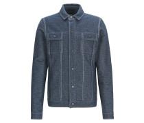 Regular-Fit Jacke aus Stretch-Baumwolle in Denim-Optik