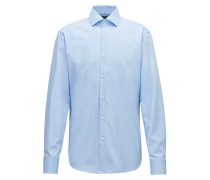 Regular-Fit Hemd aus fein gemusterter Baumwolle
