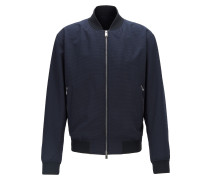 Regular-Fit Blouson aus Seersucker