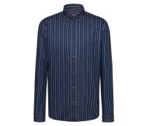 Gestreiftes Relaxed-Fit Hemd aus italienischem Denim